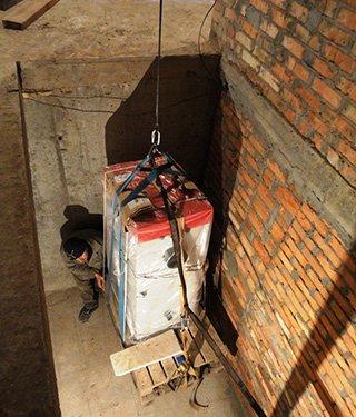 Спуск пеллетного котла в подвал