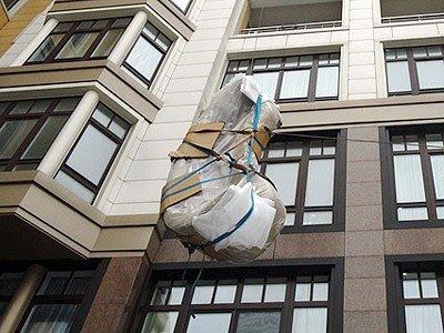 Подъем мебели через окно цена