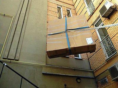 Подъем мебели через окно заказать