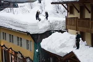 Приспособление для очистки крыш от снега
